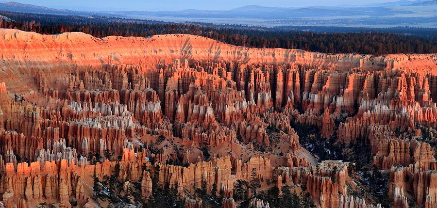 Bryce Photograph - Glowing sunrise in Bryce Canyon by Pierre Leclerc Photography