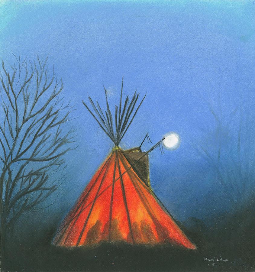 Glowing Tepee by Sheila Johns