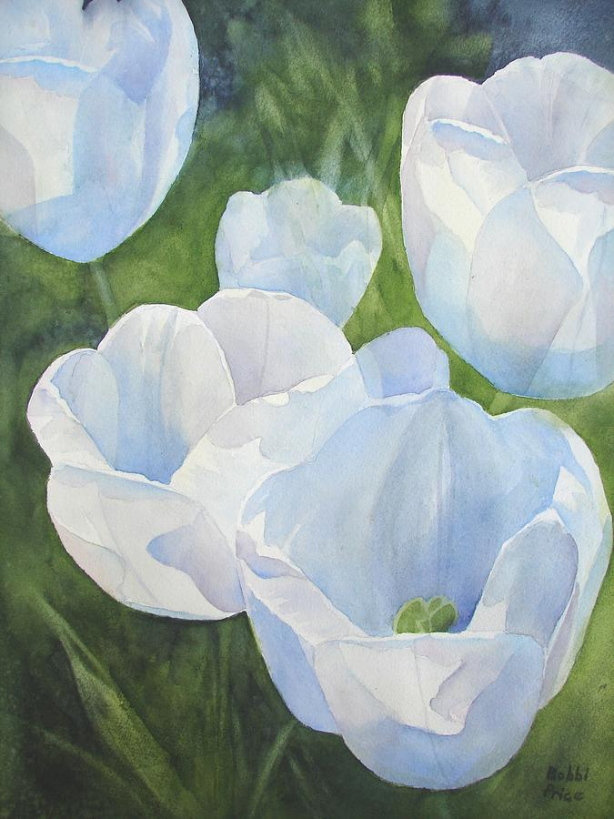 Spring Painting - Glowing Tulips by Bobbi Price