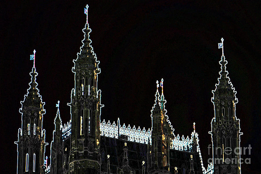 Abbey Photograph - Glowing Westminster Abbey by Terri Creasy