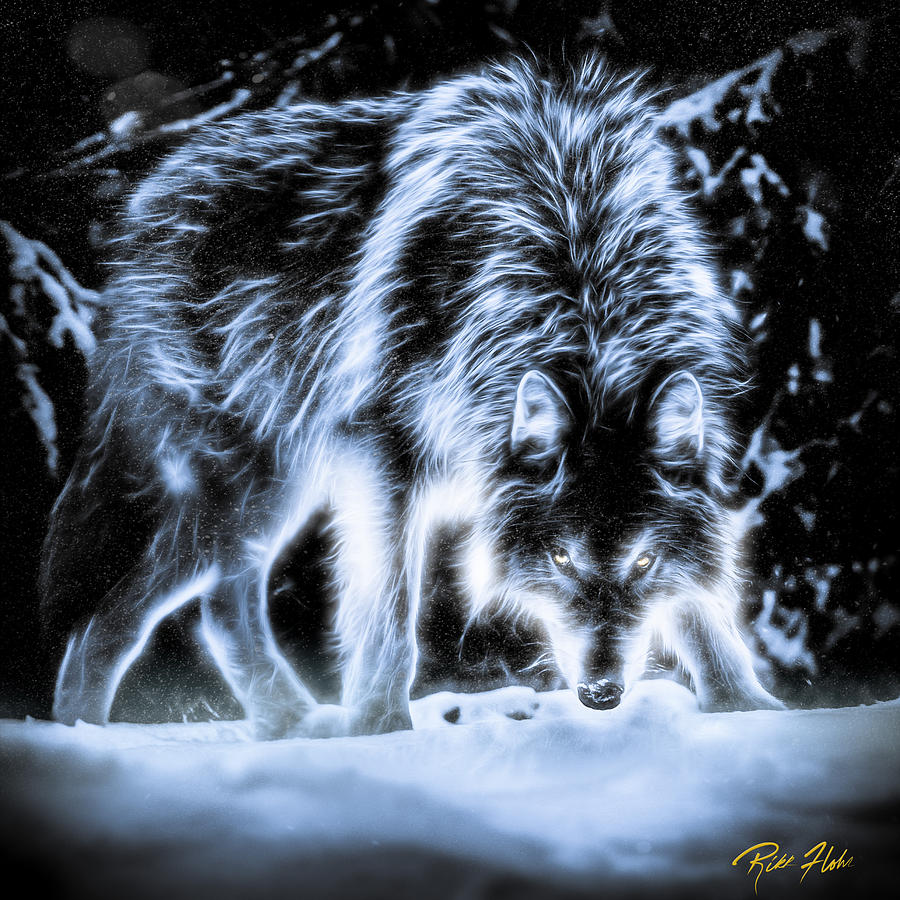 Image result for wolf with glowing fur
