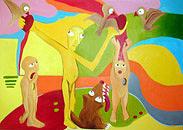 Figure Painting - Glutton by Romana Hrncirova