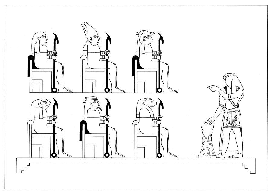 Osiris Drawing - Glyph Class by Stan  Magnan