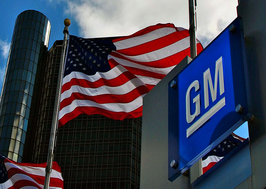 City Photograph - Gm Flags by Kelly E Schultz