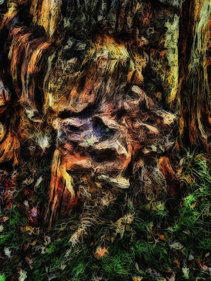 Tree Trunk Digital Art - Gnarled by Leigh Kemp