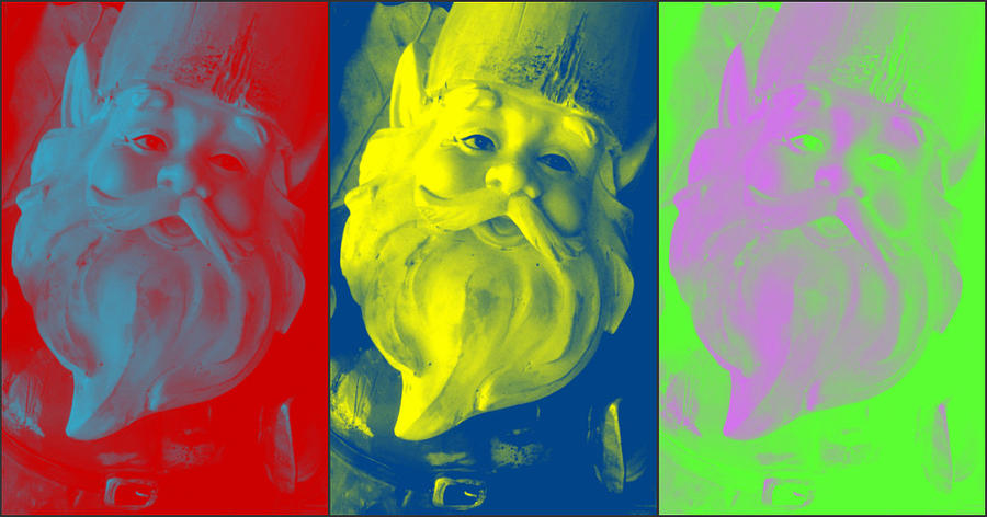 Gnome Photograph - Gnomes In Crazy Color by Jennifer Coleman