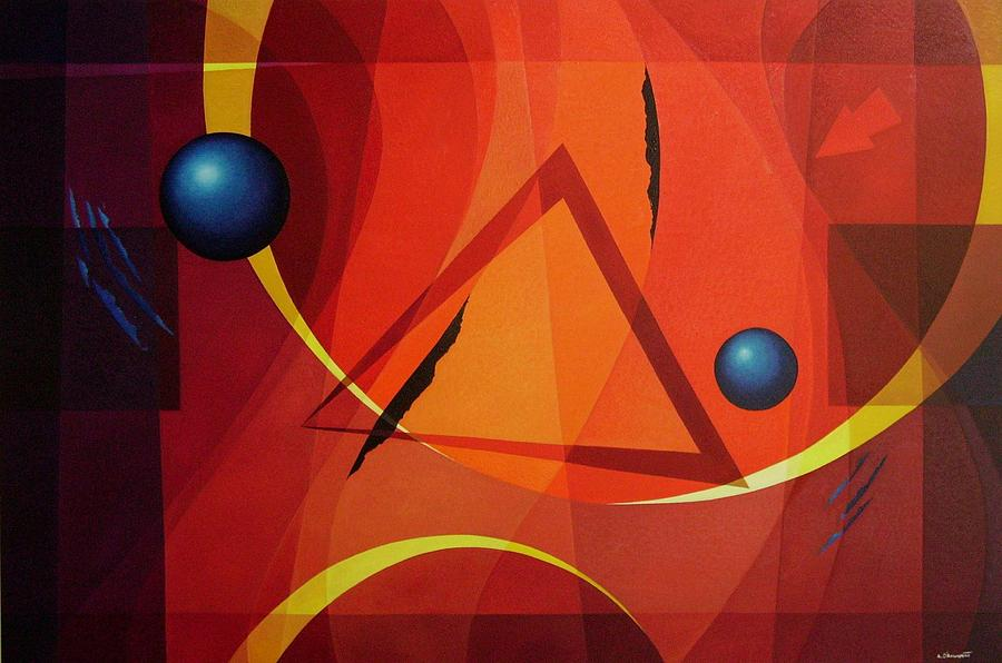 Geometric Abstract Painting - Gnosis - 1 by Alberto DAssumpcao