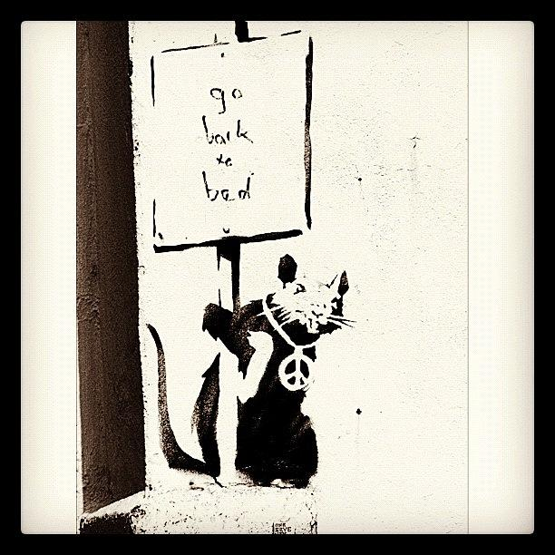 Banksy Photograph - Go Back To Bed #banksy #graffiti by A Rey