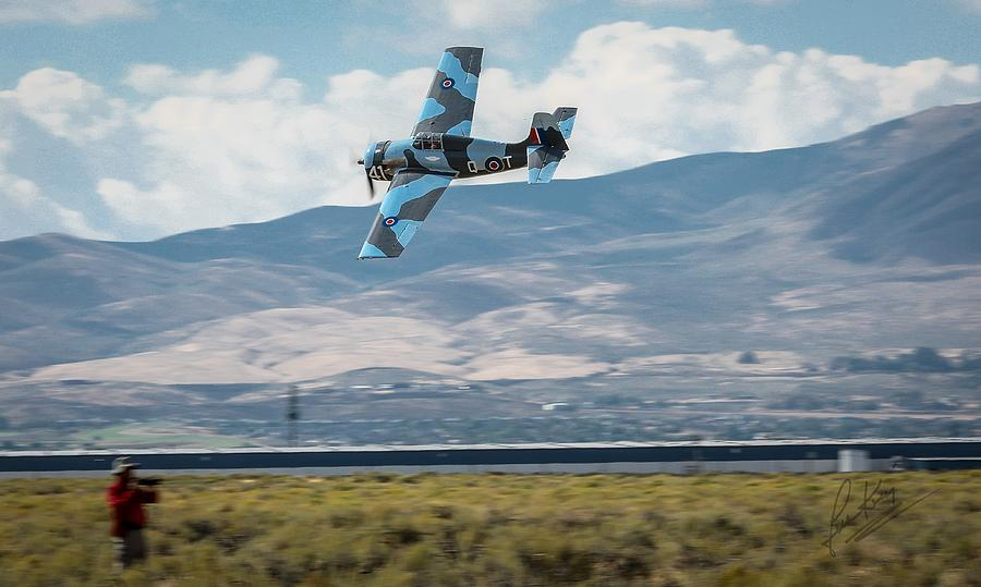 Reno Air Races Photograph - Go Fast Turn Left Fly Low Friday Morning Unlimited Broze Class Signature Edition by John King