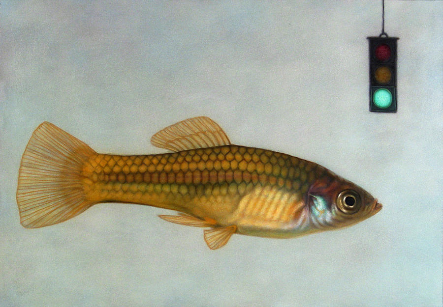 Fish Painting - Go Fish by James W Johnson