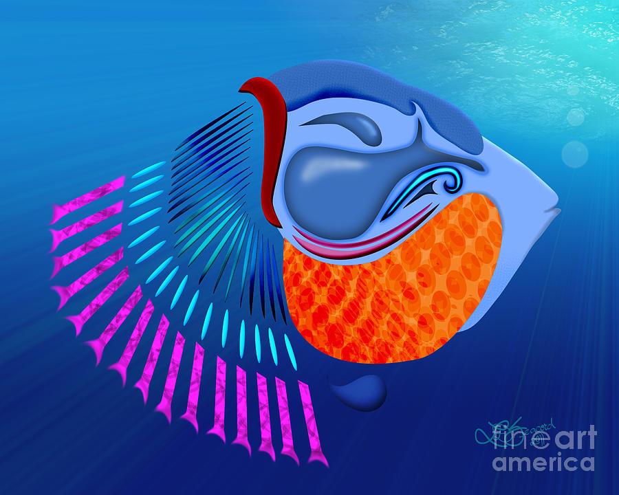 Fish Digital Art - Go Fish by Linda Seacord
