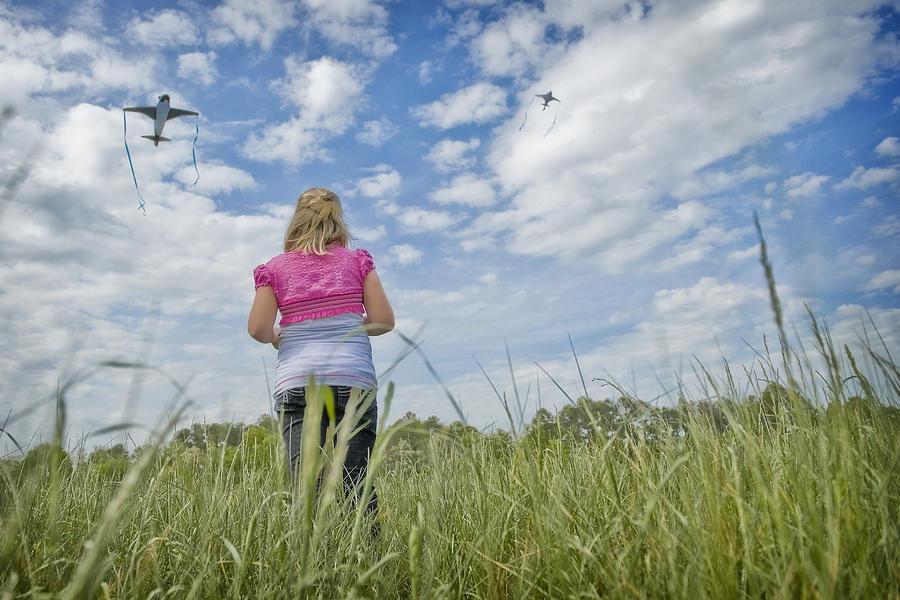 Girl Digital Art - Go Fly A Kite by Steve Shockley