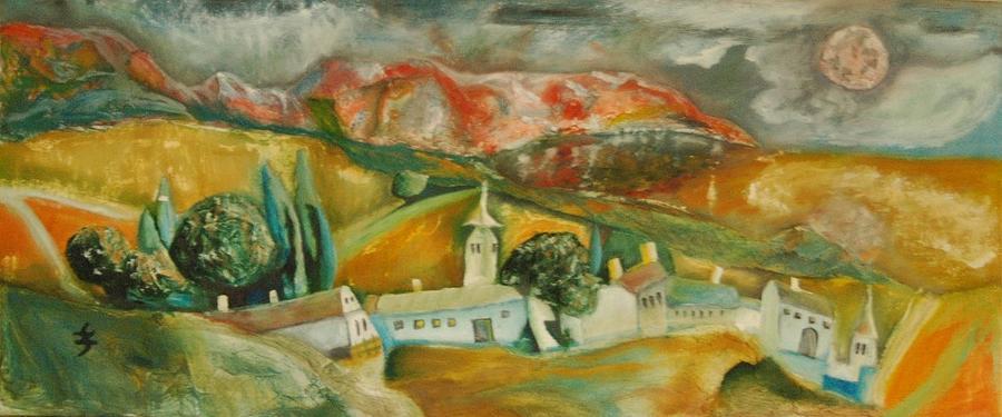 Landscape Painting - Go Home by Gyorgy Szilagyi