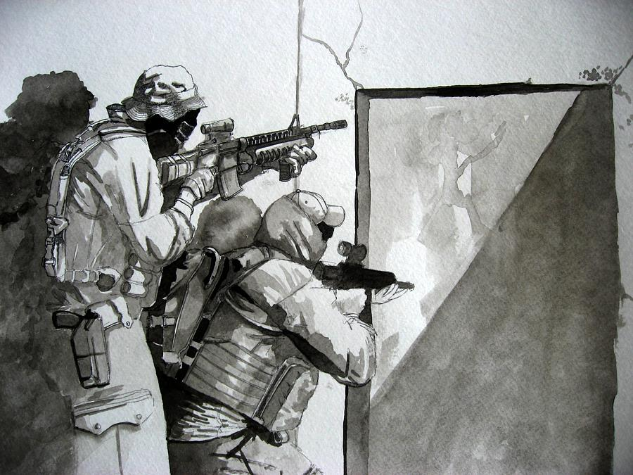 Soldiers Painting - Go Jake by Ray Agius