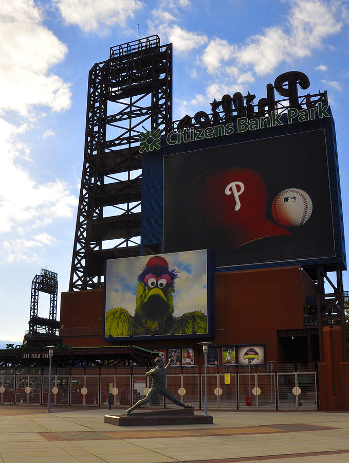 Sports Photograph - Go Phillies - Citizens Bank Park - Left Field Gate by Bill Cannon