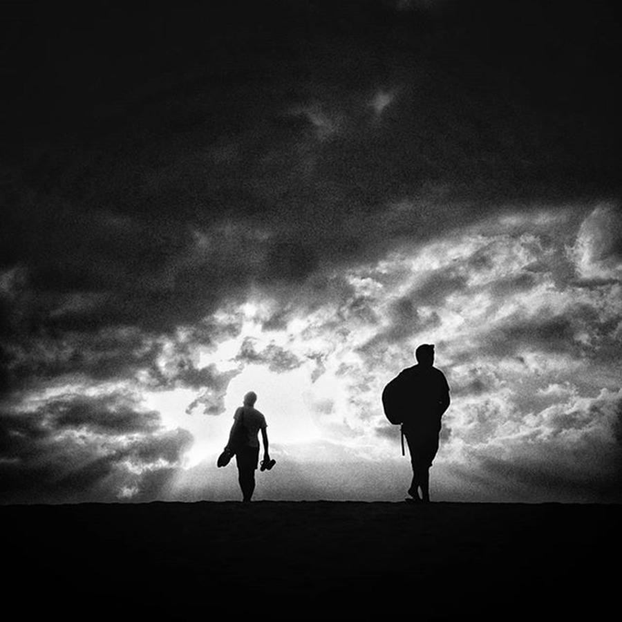 Silouette Photograph - Go To The Light!  #people #sky by Rafa Rivas