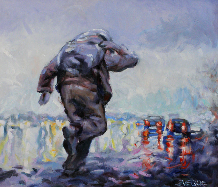 Hitchhiker Painting - Go With God by Kevin Lawrence Leveque
