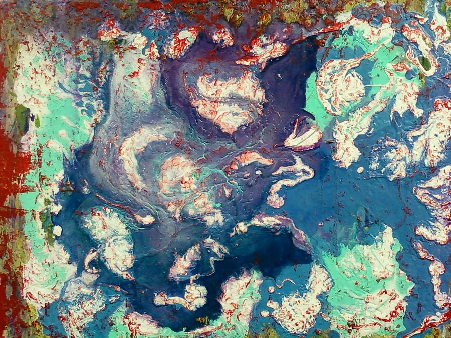 Culture Painting - Goa Series 4- Under Destruction  by Pradeep Gupta