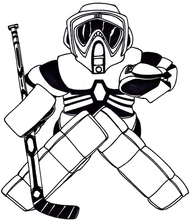 Goalie Speeder Drawing By Hockey Goalie