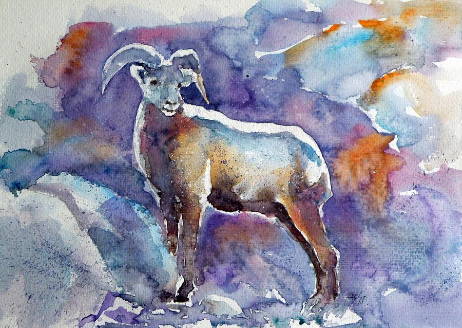 Goat Painting - Goat by Kovacs Anna Brigitta