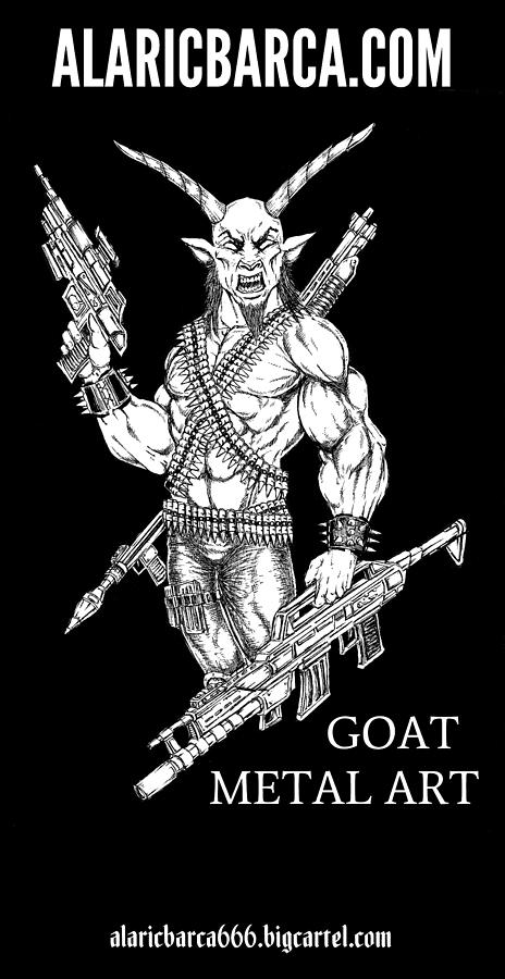 Goat Metal Poster by Alaric Barca
