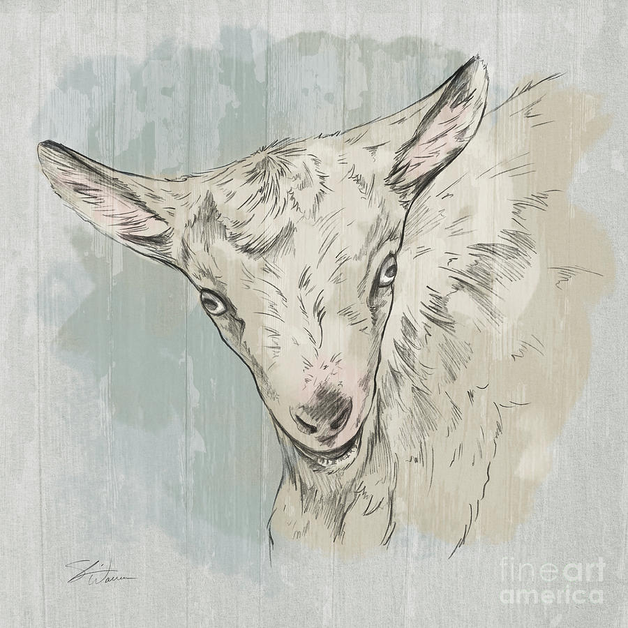 Goat Portrait-Farm Animals by Shari Warren