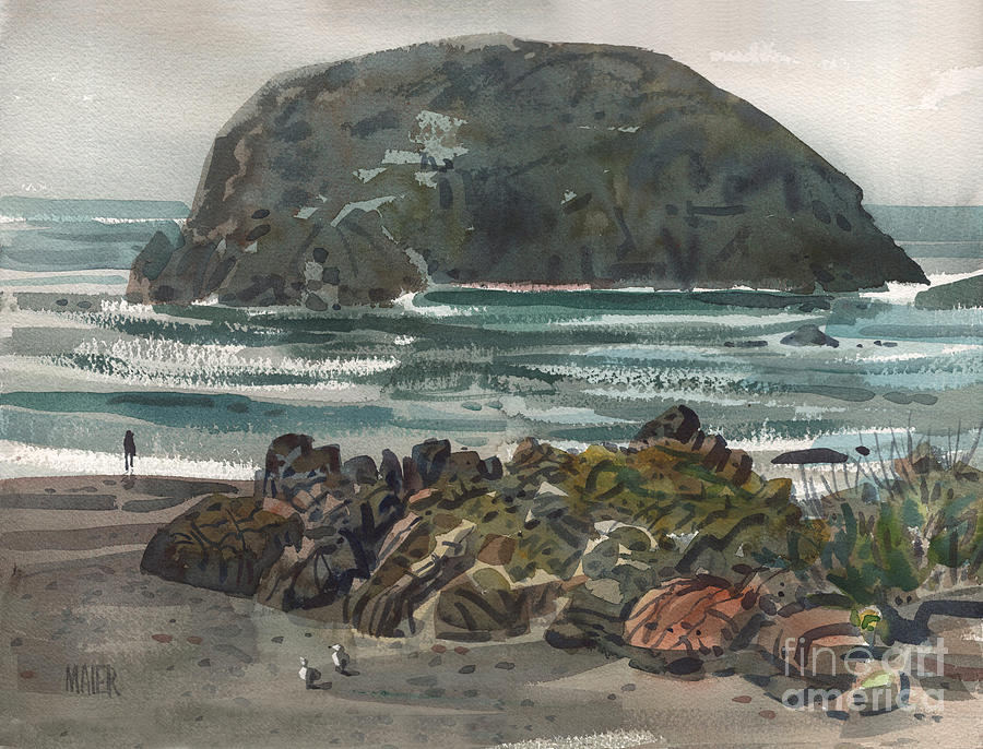 Goat Rock Painting - Goat Rock by Donald Maier