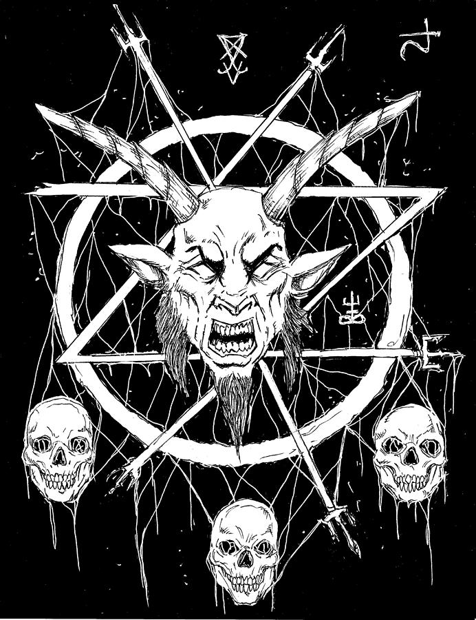 Goat Skull Occult by Alaric Barca