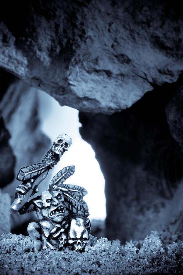 Cave Photograph - Goblin Shaman by Marc Garrido