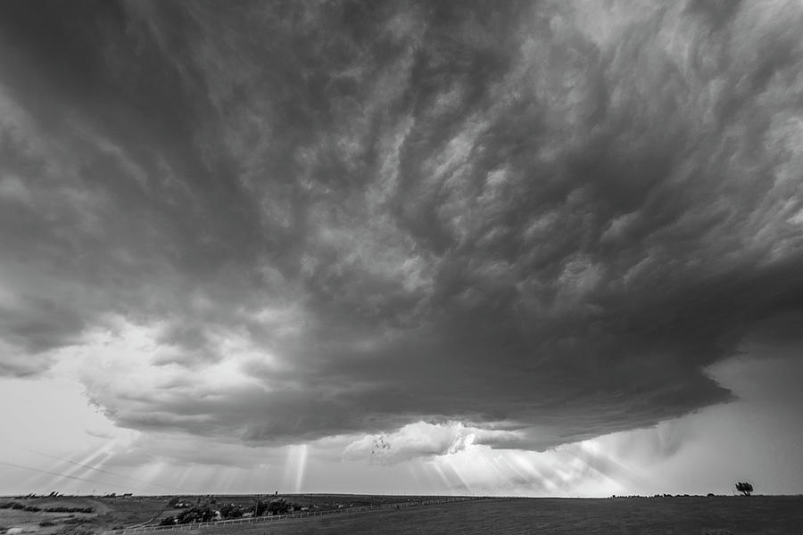 Severe Weather Photograph - God Beams by Scott Cordell