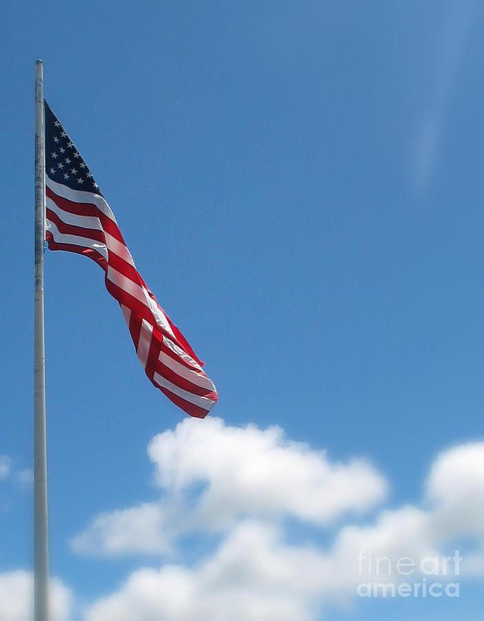 Flag Photograph - God Bless America by Mg Blackstock
