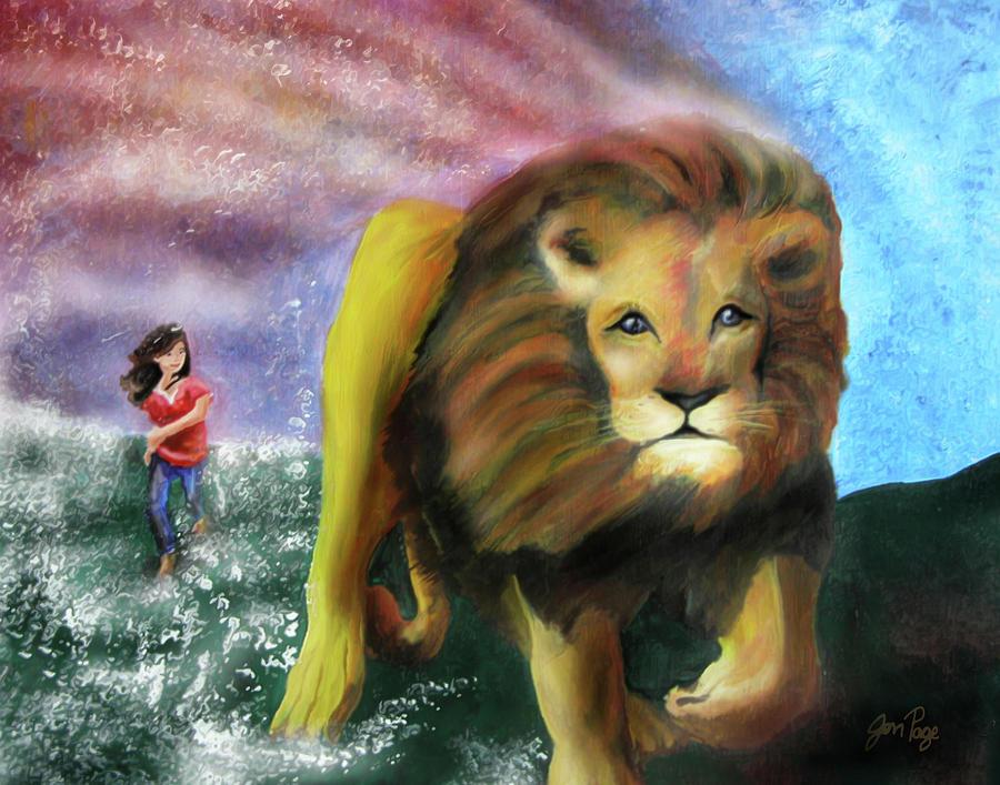 Jennifer Page Painting - God Chaser by Jennifer Page
