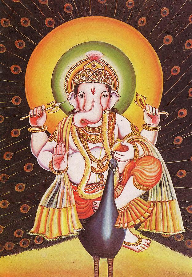God Ganesha, Ganapati, Vikat, Miniature Painting Of India, Online ...
