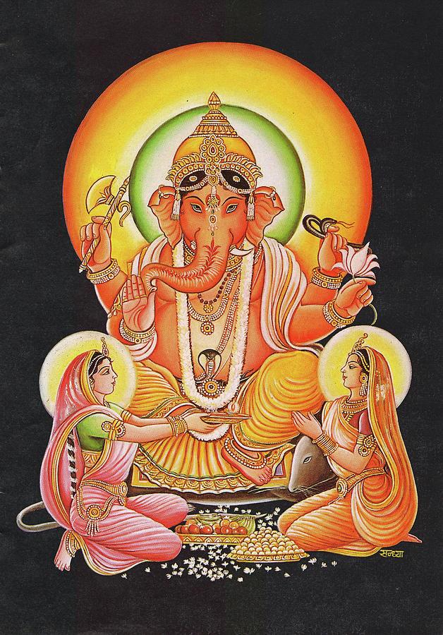 God Ganesha, Ganpati, Vinayak, Miniature Painting Of India, Online ...