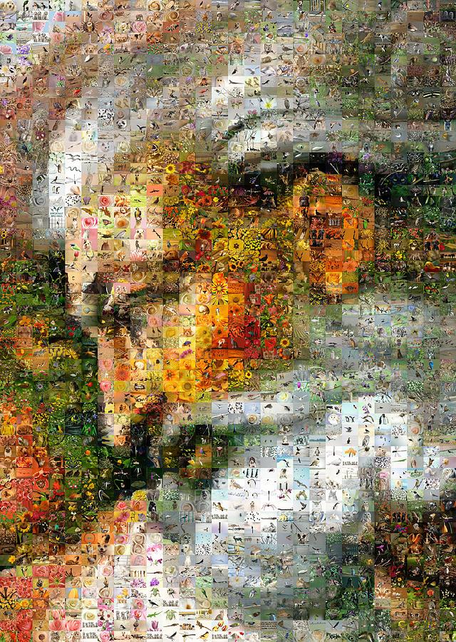 Mosaic Digital Art - God by Gilberto Viciedo