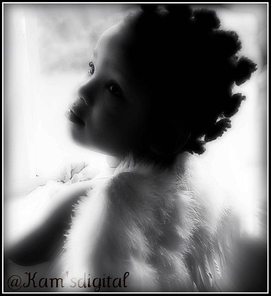 Portrait Photograph - God Little Angel by Vanessa Reed