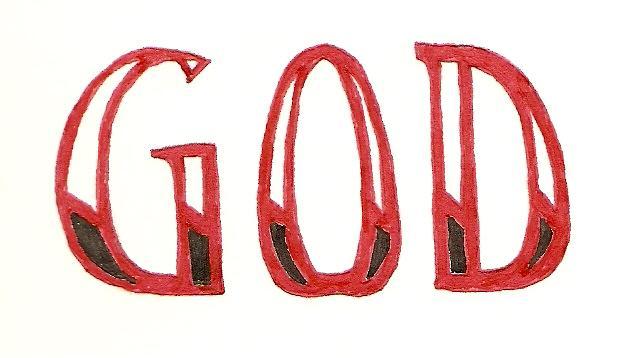 God Drawing - GOD by Mike Boast