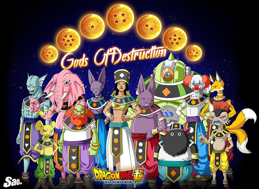 Dragon Ball Digital Art - God Of Destruction by Babbal Kumar