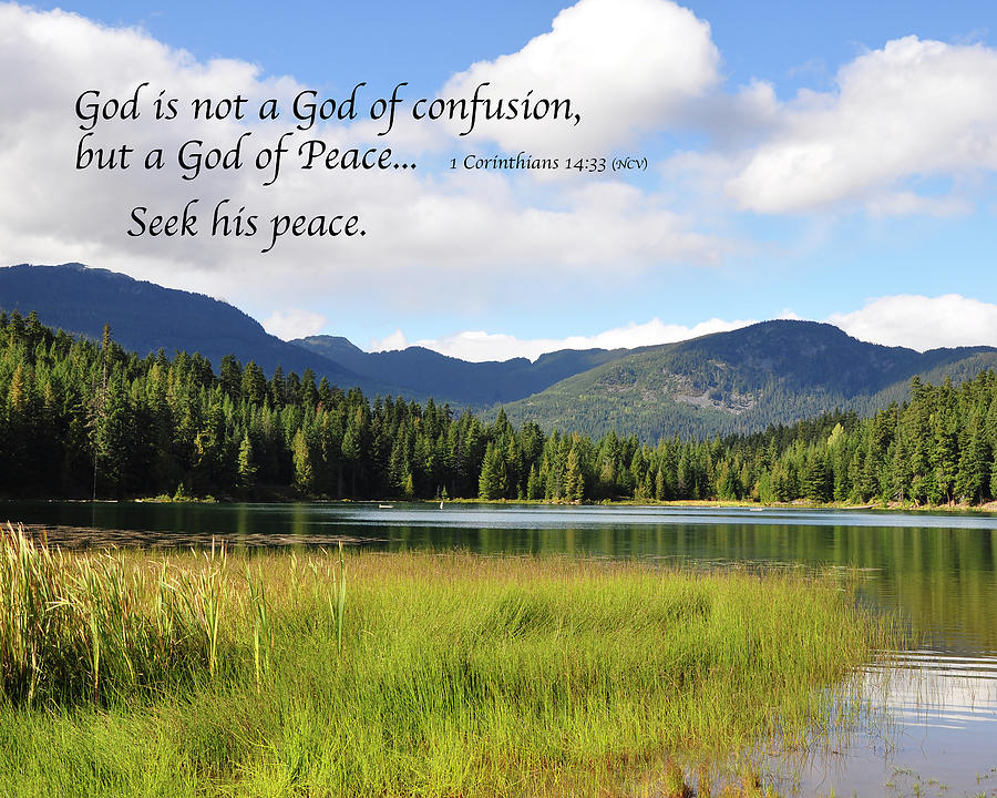 Inspirational Photograph - God of Peace by Kirt Tisdale