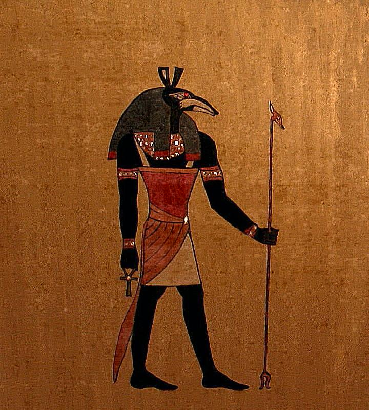Egypt Painting - God Set by Angela Falcone
