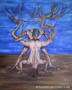 Nature Painting - God Speaks To Man by Saint Virgin Peter