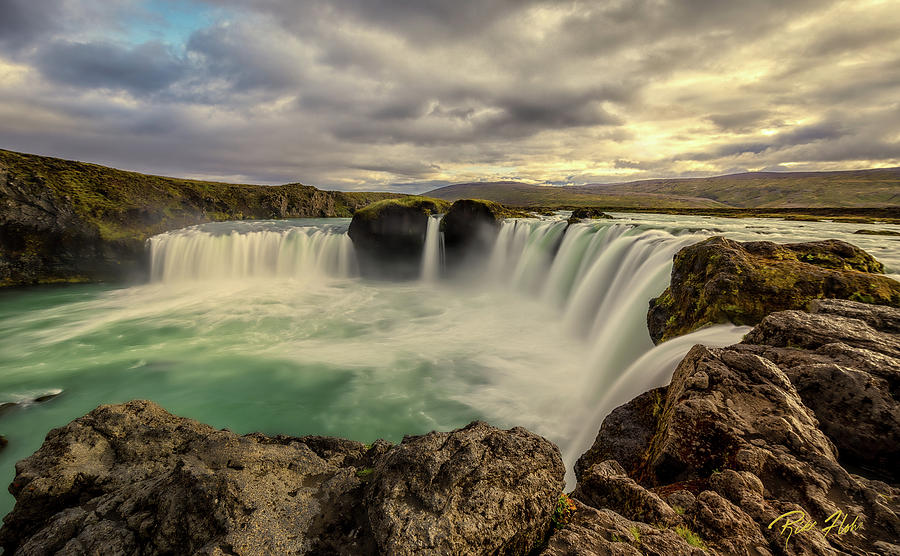 Godafoss in Late Afternoon by Rikk Flohr