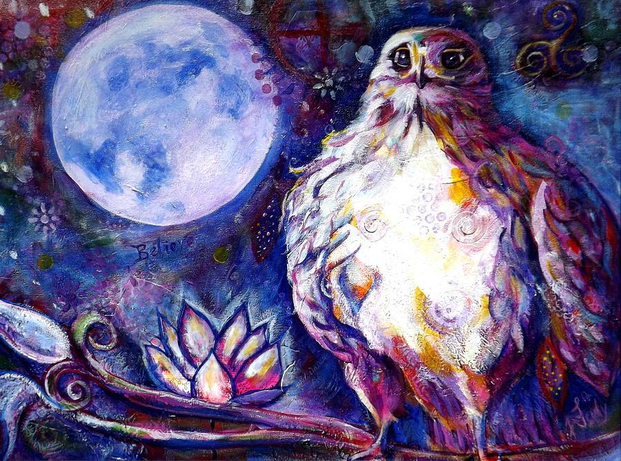 Goddess Painting - Goddes Hawk by Goddess Rockstar