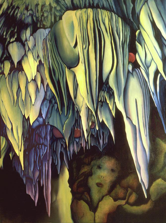 Carlsbad Caverns Painting - Goddes Of Carlsbad Caverns by Anni Adkins
