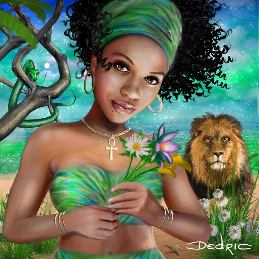 Artist Digital Art - Goddess Bastet by Dedric Artlove W