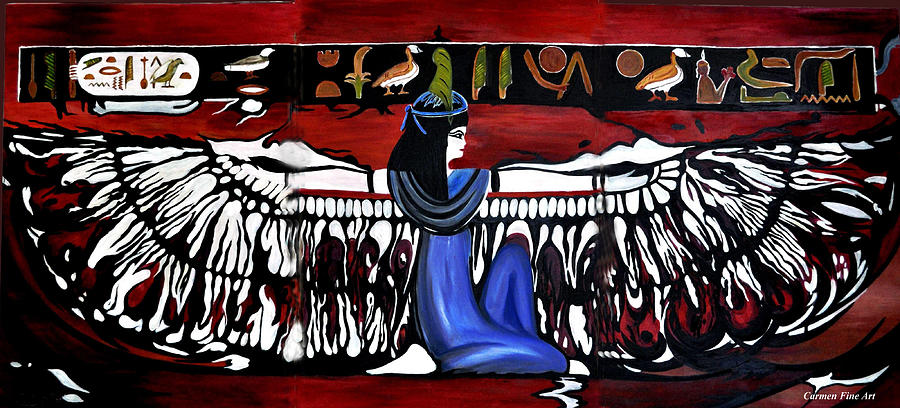 Goddess Painting - Goddess by Carmen Fine Art