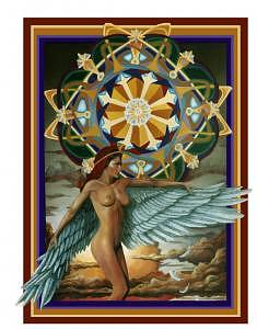 Celtic Design Painting - Goddess by Craig Werkheiser
