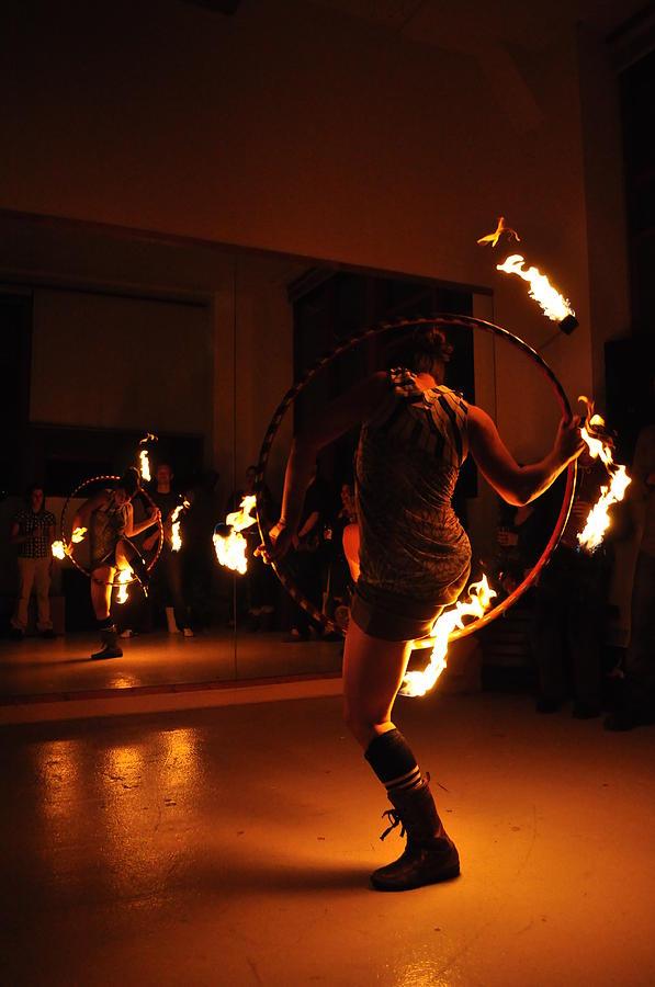 Fire Hoop Pyrography - Goddess Kali 2 by Joseph  Cusano IV