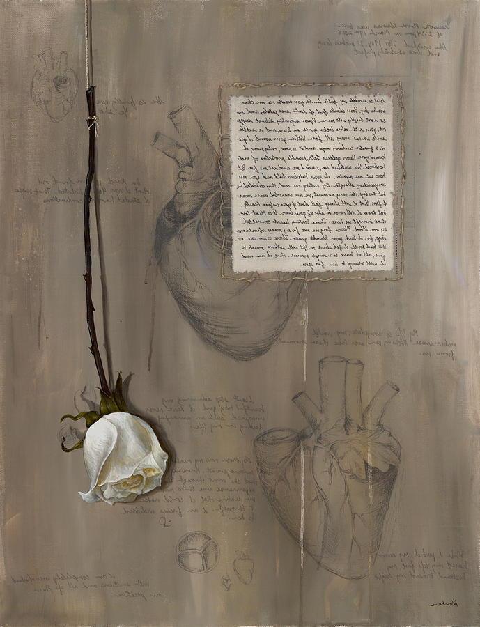 Floral Painting - Goddess Leto by Kristin Llamas