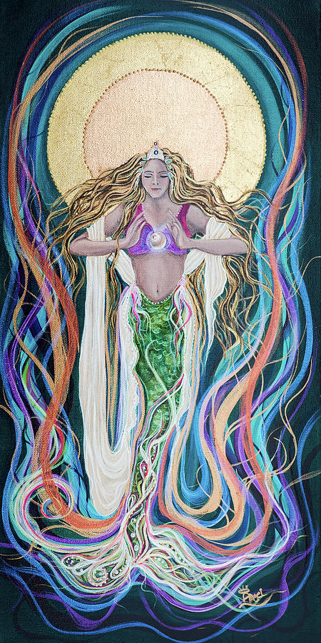 Goddess Painting - Goddess Of Intention by Angel Fritz